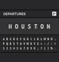 Airport flight departure destination usa houston vector