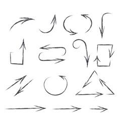 arrows hand drawn sketch pencil drawings vector image