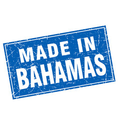 Bahamas blue square grunge made in stamp vector