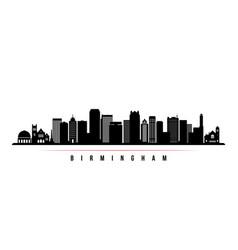 Birmingham skyline horizontal banner vector