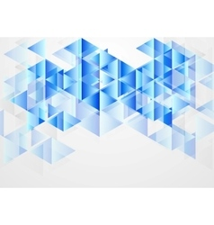 Blue bright abstract geometric background vector