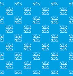 Broken glass pattern seamless blue vector