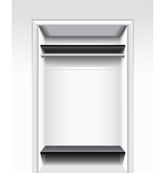 built-in wardrobe vector image