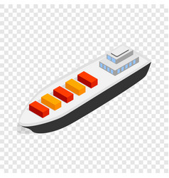 Cargo ship isometric icon vector