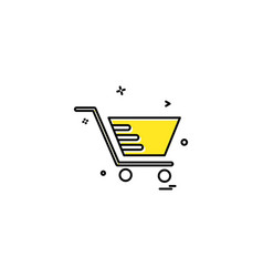 cart shopping trolley buy icon vector image