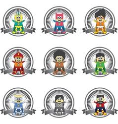 Cartoon superhero design vector