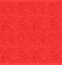 Charity red line seamless pattern vector