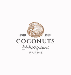 coconuts farms abstract sign symbol or vector image