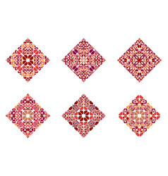 Colorful geometrical isolated petal diagonal vector