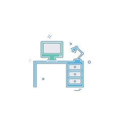 computer table icon design vector image