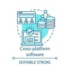 Cross platform software responsive app concept vector