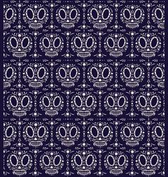 dia de los muertos sugar skulls pattern vector image