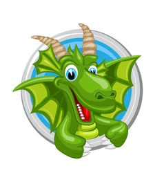 Dragon Capricorn Zodiak sign vector