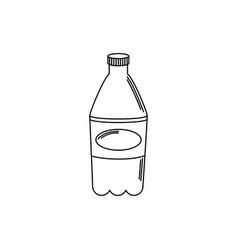 Drinks plastic bottle soda refreshment line style vector