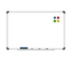 Empty dry erase whiteboard vector