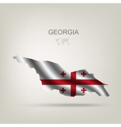 Flag of Georgia as a country vector image