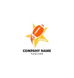 football logo design template vector image