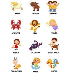 Funny zodiac vector