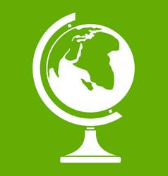globe icon green vector image