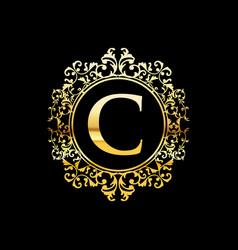 gold luxury logo design vector image