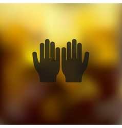 hand icon on blurred background vector image