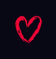 heart hand drawn 2 vector image