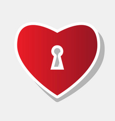 Heart woth lock sign new year reddish vector