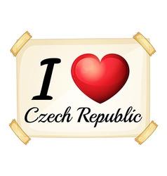 I love Czech Republic vector