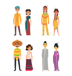 international group of peoples male and female vector image