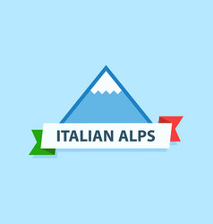Italian alps logo vector