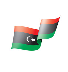 Libya flag on a white vector