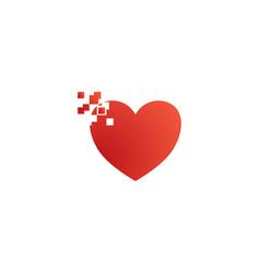 Love pixel logo vector