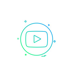 Media network social youtube vector