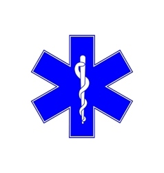 Medical symbol of Emergency - Star of Life vector image