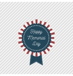 Memorial Day patriotic Emblem with Text vector image