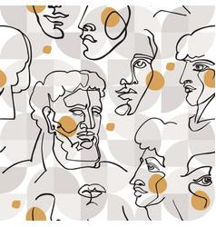Modern linear art seamless pattern vector