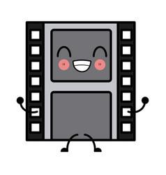 movie reel isolated cute kawaii cartoon vector image