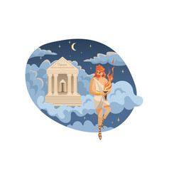 mythology greece olympus legend religion vector image