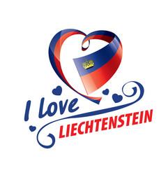 National flag liechtenstein and the vector