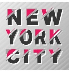 New York vintage poster vector