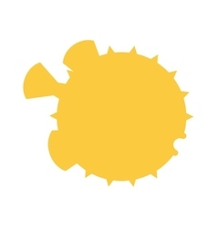 Ocean animal design of fish hedgehog cartoon ocean vector