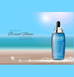 oil essence hydrating concentrate bottle template vector image