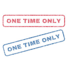 One time only textile stamps vector