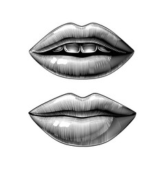 open and closed female sexy mouth vector image