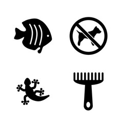 pets simple related icons vector image