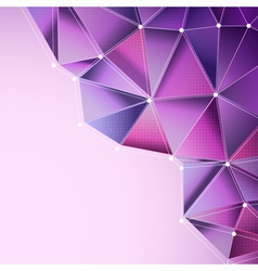 Purple abstract triangles vector
