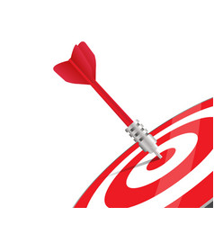 red Dart on Red Target Close up vector image