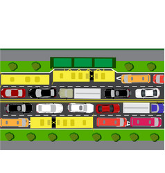 Road street or highway with complex traffic the vector