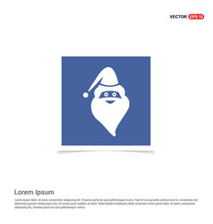 santa claus icon - blue photo frame vector image