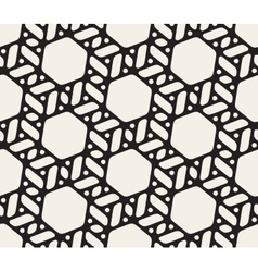 Seamless Black and White Geometric Pattern vector